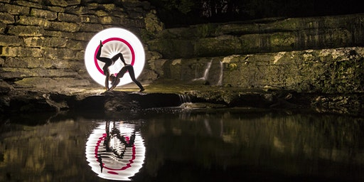 Fort Worth Foto Fest: Exotic Light Painting at Airfield Falls