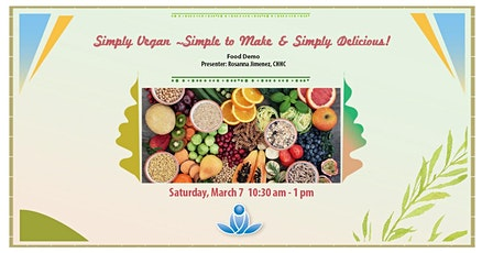 Simply Vegan ~ Simple to Make & Simply Delicious! tickets