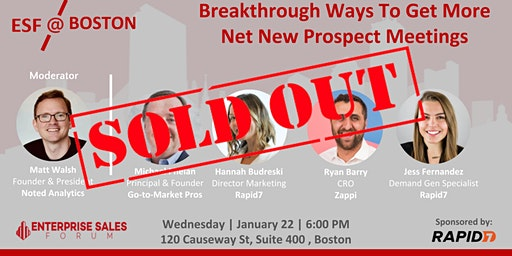 SOLD OUT - Breakthrough Ways To Get More Prospect Meetings