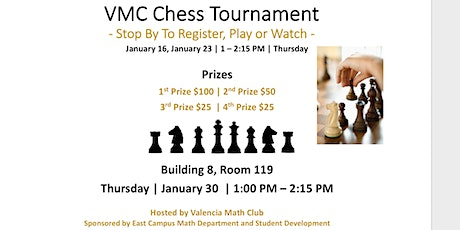 VMC Chess Tournament - Spring 2020 tickets