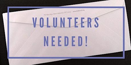 Volunteers Needed! tickets
