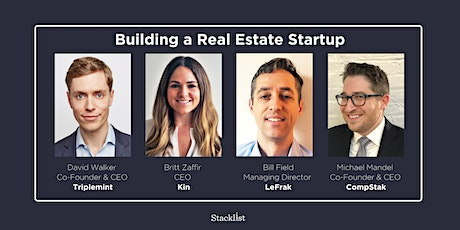 Building a Real Estate Startup tickets