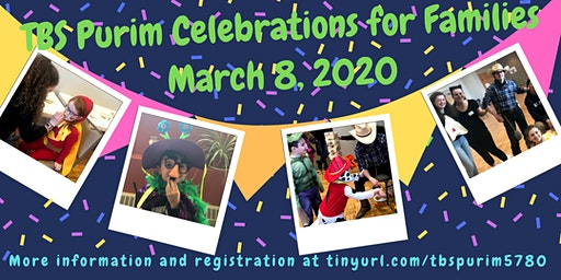 TBS Purim Celebrations for Families!