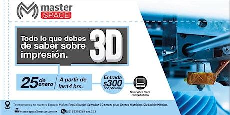 Introducción a la Impresión 3D boletos
