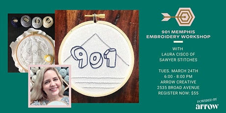 901 Memphis Embroidery with Sawyer Stitches - Powered by Arrow tickets