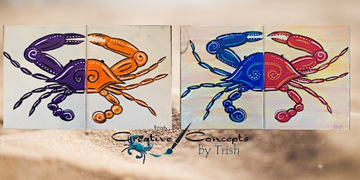 Double Crab Canvas Paint Night