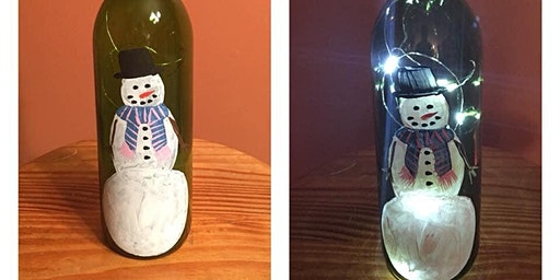 Lighted Bottle Painting