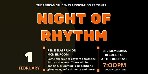 RPI's African Students Association Presents: Night of Rhythm