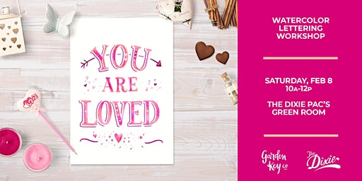Huntingdon: LOVE LETTERS - A Watercolor Lettering Workshop