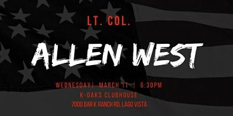 Lt. Col. Allen West tickets