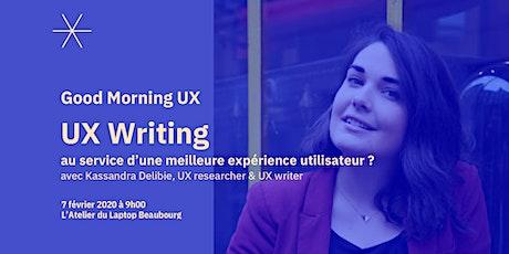 UX Writing au service d'une meilleure expérience utilisateur ? billets