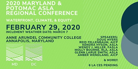 2020 Maryland & Potomac ASLA Regional Conference tickets