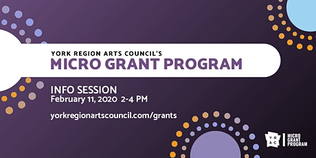 York Region Arts Council's Micro Grant Program - Info Session tickets
