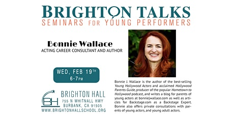 Brighton Talks: Acting Career Consultant Bonnie Wallace tickets
