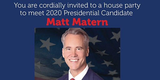 House Party: Matt Matern, Republican candidate for President in Bedford, NH