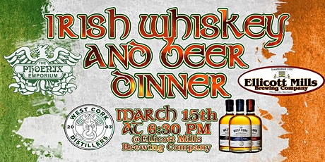 IRISH WHISKEY AND BEER  DINNER @ Ellicott Mills Brewing Company tickets