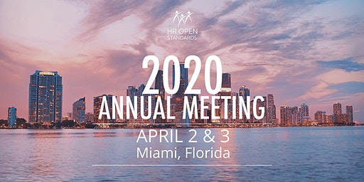 HR OPEN STANDARDS 2020 ANNUAL MEETING