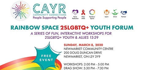 Rainbow Space 2SLGBTQ+ Youth Forum tickets