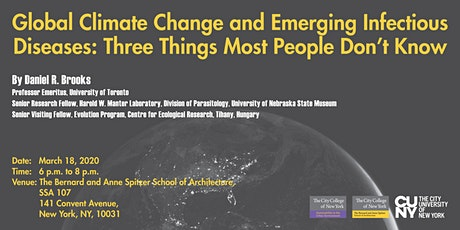 Global Climate Change and Emerging Infectious Diseases by Daniel Brooks tickets