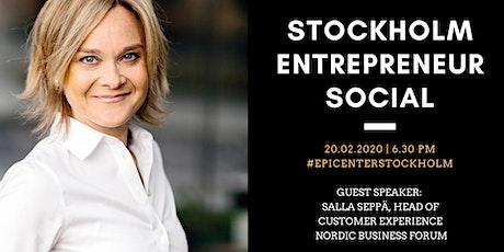 Stockholm Entrepreneur Social tickets