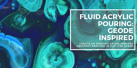 Fluid Acrylic Pouring: Geode Inspired tickets