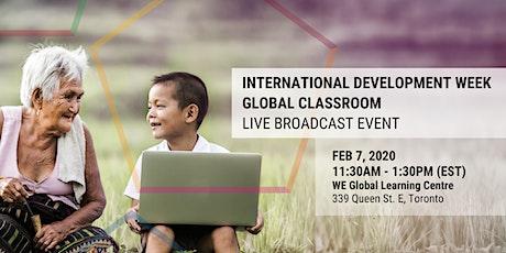 International Development Week 2020 - Global Classroom Live Broadcast Event tickets