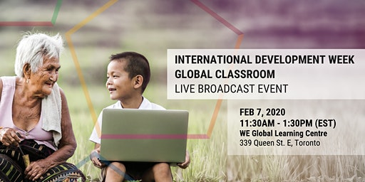 International Development Week 2020 - Global Classroom Live Broadcast Event