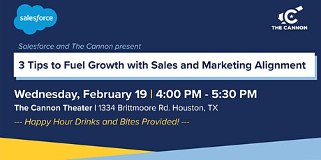 The Cannon Happy Hour:  3 Tips to Fuel Growth with Sales & Marketing tickets