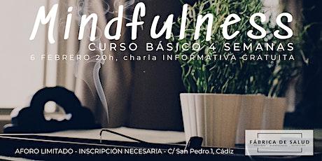 Charla INFORMATIVA GRATUITA curso básico MINDFULNESS 4 semanas entradas
