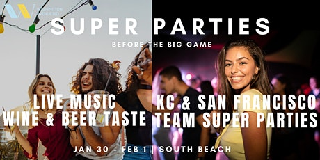 3-Day Super Events: Fan Parties, Live Music Series, Wine & Beer Taste tickets
