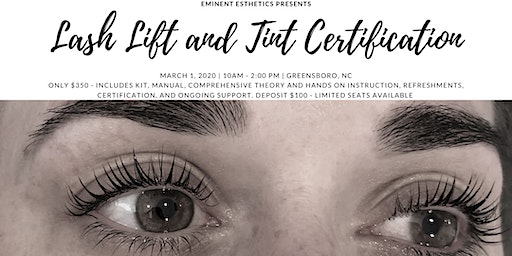 LASH LIFT AND TINT TRAINING AND CERTIFICATION