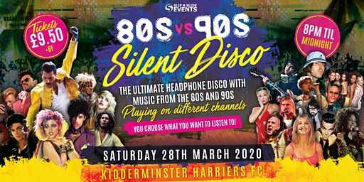80s vs 90s Silent Disco in Kidderminster