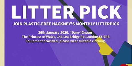 The first Plastic-Free Hackney litter pick of 2020! tickets