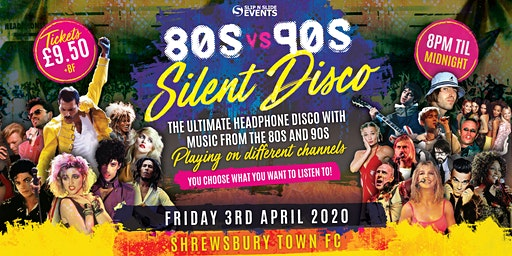 80s vs 90s Silent Disco in Shrewsbury