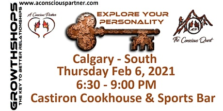 The Conscious Quest - Explore Your PERSONALITY - Calgary South tickets