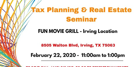 Tax Planning Seminar by Perfect Tax and Finance tickets