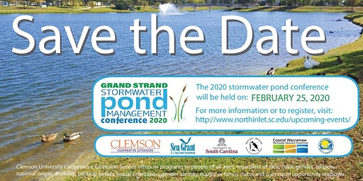 2020 Grand Strand Stormwater Pond Management Conference