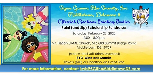 Sigma Gamma Rho Sorority, Inc. - Middletown, DE: Sip & Paint Scholarship Fundraiser