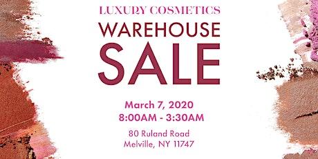 Luxury Cosmetics Warehouse Sale - Melville, NY tickets