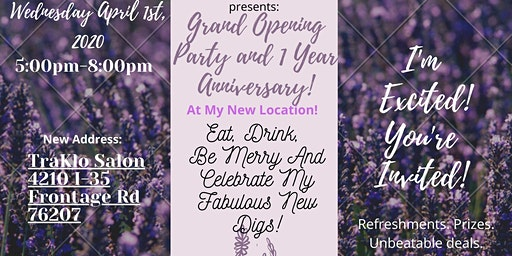 Open House Party and 1 Year Anniversary at My New Location!