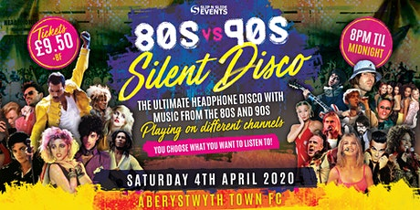 80s vs 90s Silent Disco in Aberystwyth tickets