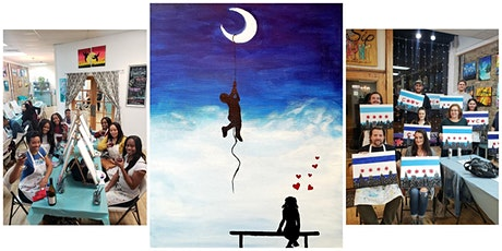 """BYOB Sip & Paint Event - """"Over The Moon For You"""" tickets"""