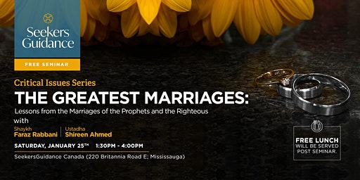 The Greatest Marriages: Lessons from  the Prophets and the Righteous