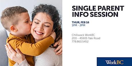 Single Parent Employment Info Session tickets