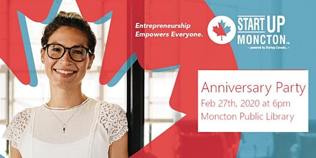 Startup Greater Moncton 2020 Anniversary Party tickets