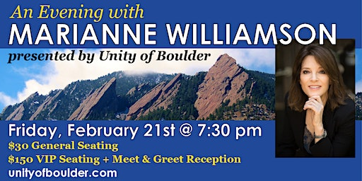 An Evening With Marianne Williamson