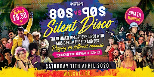 80s vs 90s Silent Disco in Walsall