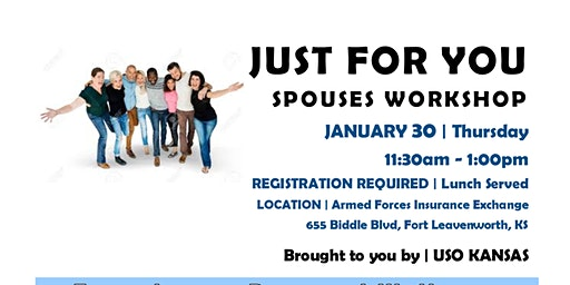 Just For You WHAT'S YOUR WORD? spouse workshop FORT LEAVENWORTH