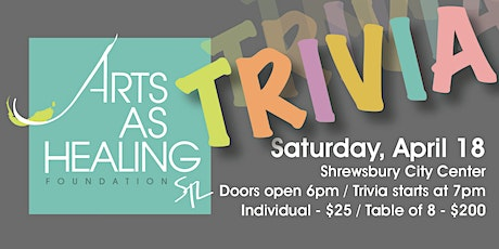 Arts As Healing 2nd Annual Trivia Night tickets