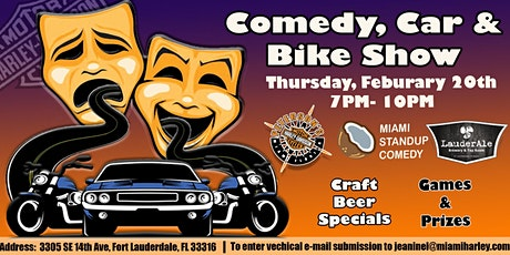 Comedy, Car and Bike Show tickets